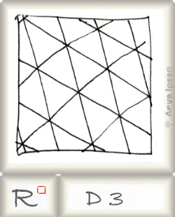 Reticulum  o D3 by Zentangle®, presented by www.musterquelle.de