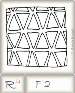 Reticulum  o F2 by Zentangle®, presented by www.musterquelle.de