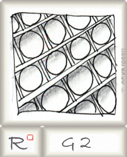 Reticulum  o G2 by Zentangle®, presented by www.musterquelle.de