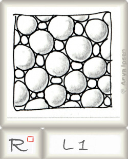 Reticulum  o L1 by Zentangle®, presented by www.musterquelle.de