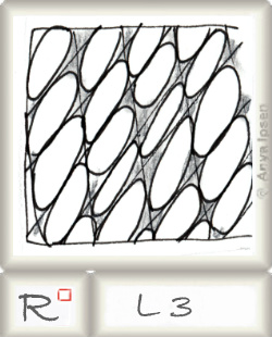 Reticulum  o L3 by Zentangle®, presented by www.musterquelle.de