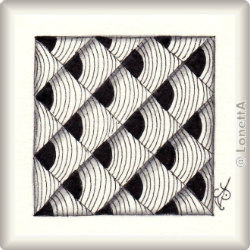 Zentangle-Pattern 'Beelight' by Zentangle, presented by www.musterquelle.de