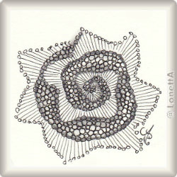 Zentangle-Pattern 'Bubble Bobble Bloop' by Graham MacKugler, presented by www.musterquelle.de