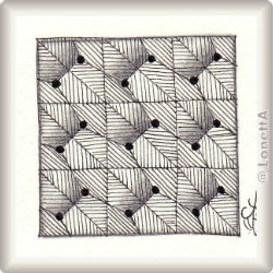Zentangle-Pattern 'Bucky' by Molly Hollibaugh CZT, presented by www.musterquelle.de