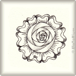 Zentangle-Pattern 'Cabbage Rose' by Carolyn Boettner, presented by www.musterquelle.de