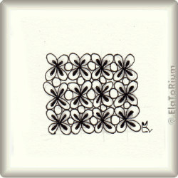 Zentangle-Pattern 'Charmzy' by Kelly Barone CZT, presented by www.musterquelle.de