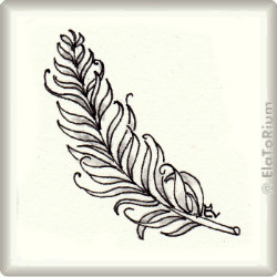 Zentangle-Pattern 'Curly Bracket Feather' by Helen Williams, presented by www.musterquelle.de