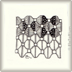 Zentangle-Pattern 'Dickies' by Neil Burley, presented by www.musterquelle.de
