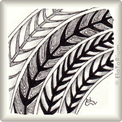 Zentangle-Pattern 'Dorsal' by Anita Aspfors Westin, presented by www.musterquelle.de