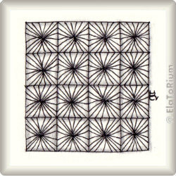 Zentangle-Pattern 'Faux-cets' by Katie Booth, presented by www.musterquelle.de