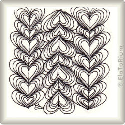 Zentangle-Pattern 'Heartswell' by Helen Williams, presented by www.musterquelle.de