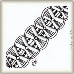 Zentangle-Pattern 'Hitched' by HeidiSue Whitney, presented by www.musterquelle.de