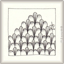 Pattern for Zentangle® and Zentangle® inspired art 'Horti' by Ria Matheussen CZT, presented by www.Musterquelle.de
