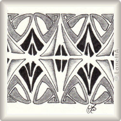 Zentangle-Pattern 'Jugendstil' by Neil Burley, presented by www.musterquelle.de