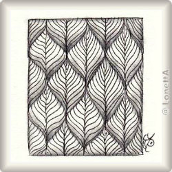 Zentangle-Pattern 'Leaflet' by Helen Williams, presented by www.musterquelle.de