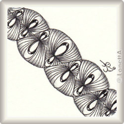 Zentangle-Pattern 'Por Fin' by Cathy Staeven CZT, presented by www.musterquelle.de