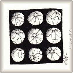 Zentangle-Pattern 'Punch' by Sandy Steen Bartholomew CZT, presented by www.musterquelle.de