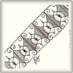 Zentangle-Pattern 'Quickzly' by Annette Carlo CZT, presented by www.musterquelle.de