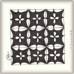 Zentangle-Pattern 'Santo' by Neil Burley, presented by www.musterquelle.de