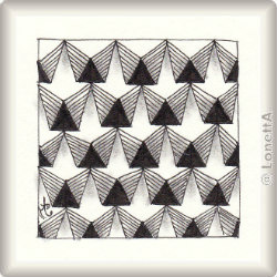 Zentangle-Pattern 'Schwarm' by Simone Bischoff, presented by www.musterquelle.de