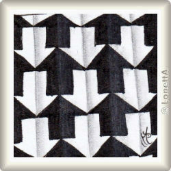 Zentangle-Pattern 'Schway' by Zentangle, presented by www.musterquelle.de