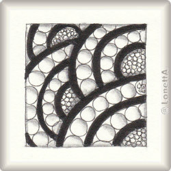 Zentangle-Pattern 'Shamber' by Lori Howe, presented by www.musterquelle.de