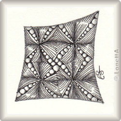 Zentangle-Pattern 'Ta-da' by Margaret McKerihan, presented by www.musterquelle.de