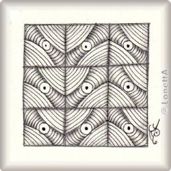 Zentangle-Pattern 'Target' by Yu Ru Chen, presented by www.musterquelle.de