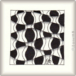 Zentangle-Pattern 'Waft' by Beth Snoderly , presented by www.musterquelle.de