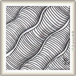 Zentangle-Pattern 'Waves' by Suzanne McNeill CZT, presented by www.musterquelle.de
