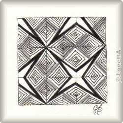 Zentangle-Pattern 'Wedge' by Rosemary Turpin, presented by www.musterquelle.de