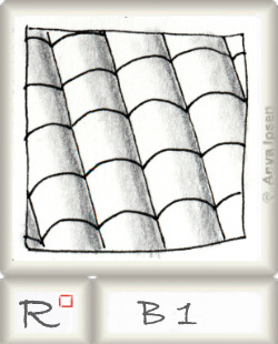Reticulum  o B1 by Zentangle®, presented by www.musterquelle.de