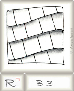 Reticulum  o B3 by Zentangle®, presented by www.musterquelle.de