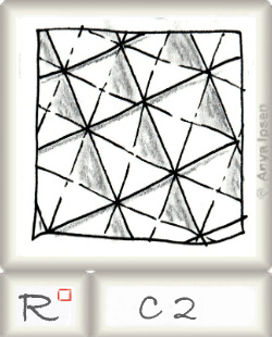 Reticulum  o C2 by Zentangle®, presented by www.musterquelle.de