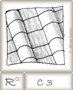 Reticulum  o C3 by Zentangle®, presented by www.musterquelle.de