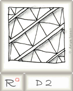 Reticulum  o D2 by Zentangle®, presented by www.musterquelle.de