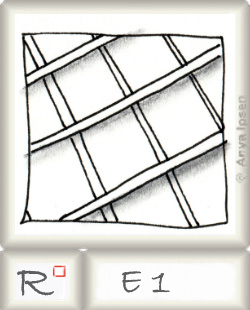 Reticulum  o E1 by Zentangle®, presented by www.musterquelle.de