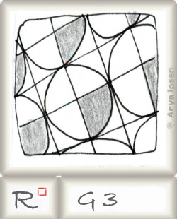Reticulum  o G3 by Zentangle®, presented by www.musterquelle.de