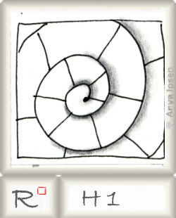 Reticulum  o H1 by Zentangle®, presented by www.musterquelle.de