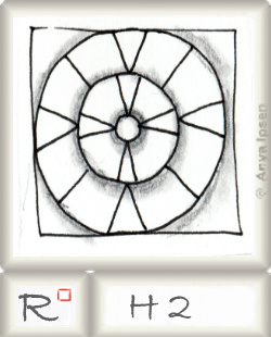 Reticulum  o H2 by Zentangle®, presented by www.musterquelle.de
