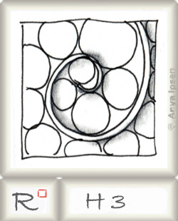Reticulum  o H3 by Zentangle®, presented by www.musterquelle.de