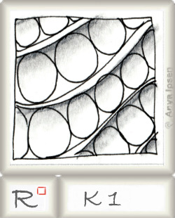 Reticulum  o K1 by Zentangle®, presented by www.musterquelle.de