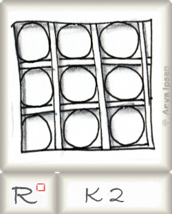 Reticulum  o K2 by Zentangle®, presented by www.musterquelle.de