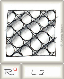 Reticulum  o L2 by Zentangle®, presented by www.musterquelle.de