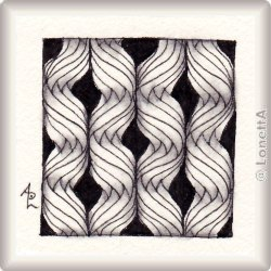 Zentangle-Pattern 'A-Fog' by Kathy S. Redmond, presented by www.musterquelle.de