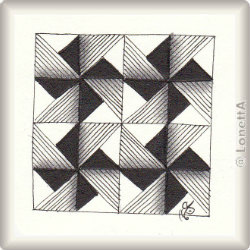 Zentangle-Pattern 'Amalea' by Chrissie Frampton CZT, presented by www.musterquelle.de