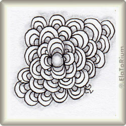Zentangle-Pattern 'Arc Flower' by JJ LaBarbera, presented by www.musterquelle.de