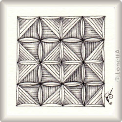 Muster Balesleation von Maureen Stott CZT, ein Muster geeignet für Zentangle® and Zentangle® inspired art, präsentiert in der Musterquelle