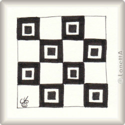 Zentangle-Pattern 'Centre Square' by Aleesha Sattra CZT, presented by www.musterquelle.de