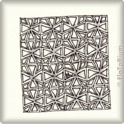 Zentangle-Pattern 'Chi' by Cynthia Gannon CZT, presented by www.musterquelle.de